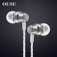 цена на OUSU mini Earphone With Mic Noise Canceling Headphone Wired hi fi Bass Earbuds For Apple xiaomi Original In Ear fone de ouvido
