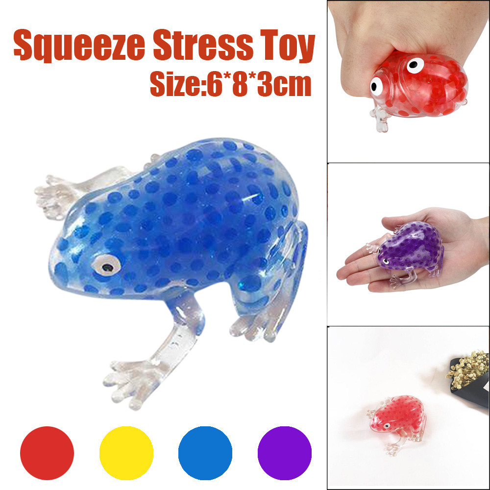 Novelty Squishy 6cm Bead Stress Ball Sticky Skuishy Frogs Squeezing Stress Relief Toy