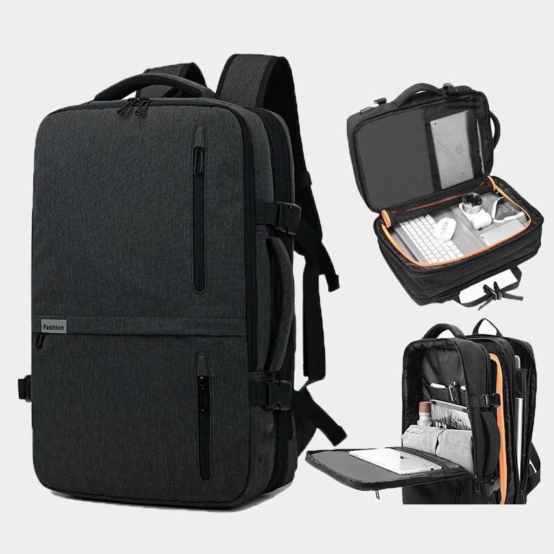 Multifonction Nylon sac à dos voyage grande capacité sac à dos décontracté pour ordinateur portable hommes USB recharge étanche sac a dos homme