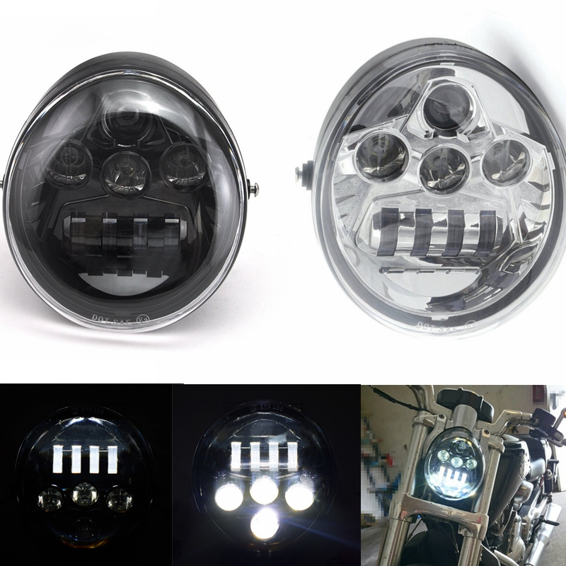 60W Motorcycle V Rod Led Lights For VROD Motorcycle LED Headlight Moto For V Rod VRSCF VRSC VRSCR 2002-2017