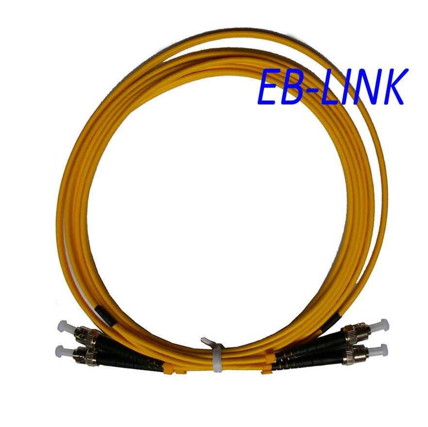 Оптический кабель, St / PC-ST / pc, 3.0 мм, Одномодовый 9/125, Дуплекс, St ст 15 м