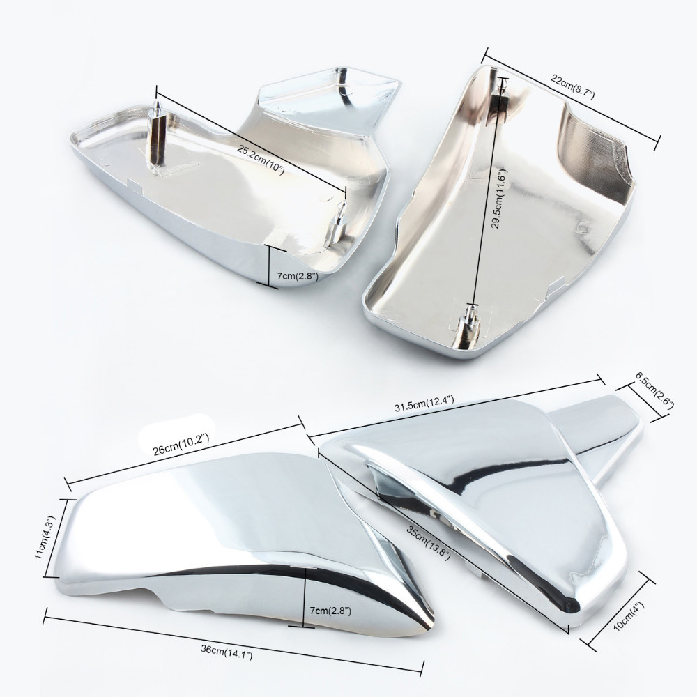 For Honda VT 600 Shadow VLX Deluxe Steed 400 600 1988 1990 1997 Steed 400VLS 1998 Chrome Motorcycle Battery Side Covers Cover chrome switch housing cover for honda shadow 600 vt 750 1300 vtx vt1300c vlx ace