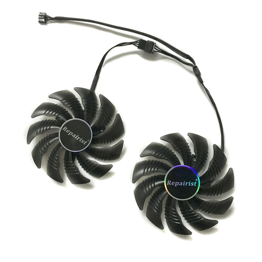 Купить с кэшбэком GV-RX570/580GAMING GV-RX470WF2/RX480WF2 T129215SU 87MM(90mm) Gigabyte Cards Cooling Fan as Replacement