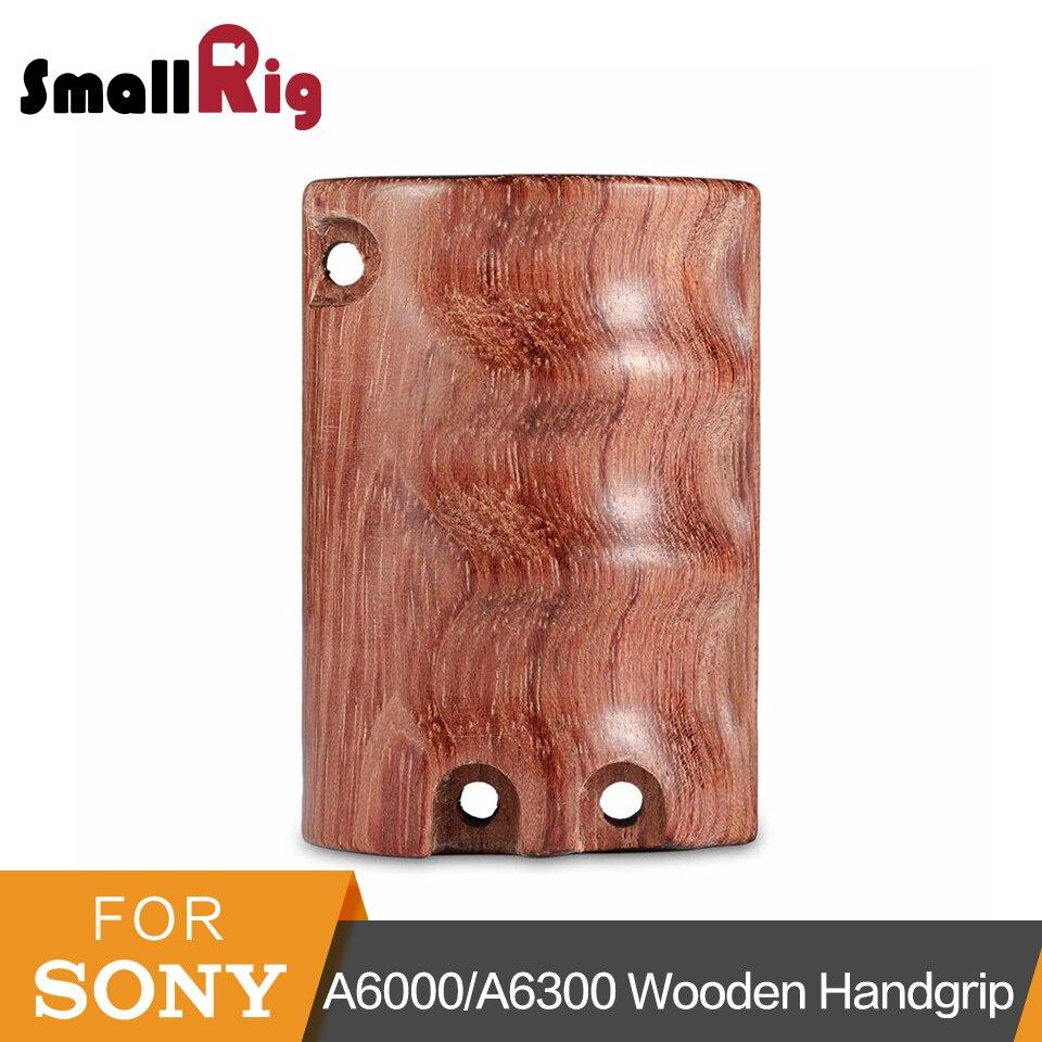 SmallRig de madera de diseño de empuñadura para Sony A6000/A6300/A6500 ILCE-6000/ILCE-6300/ILCE-6500 Cámara jaula con M4 tornillos-1970