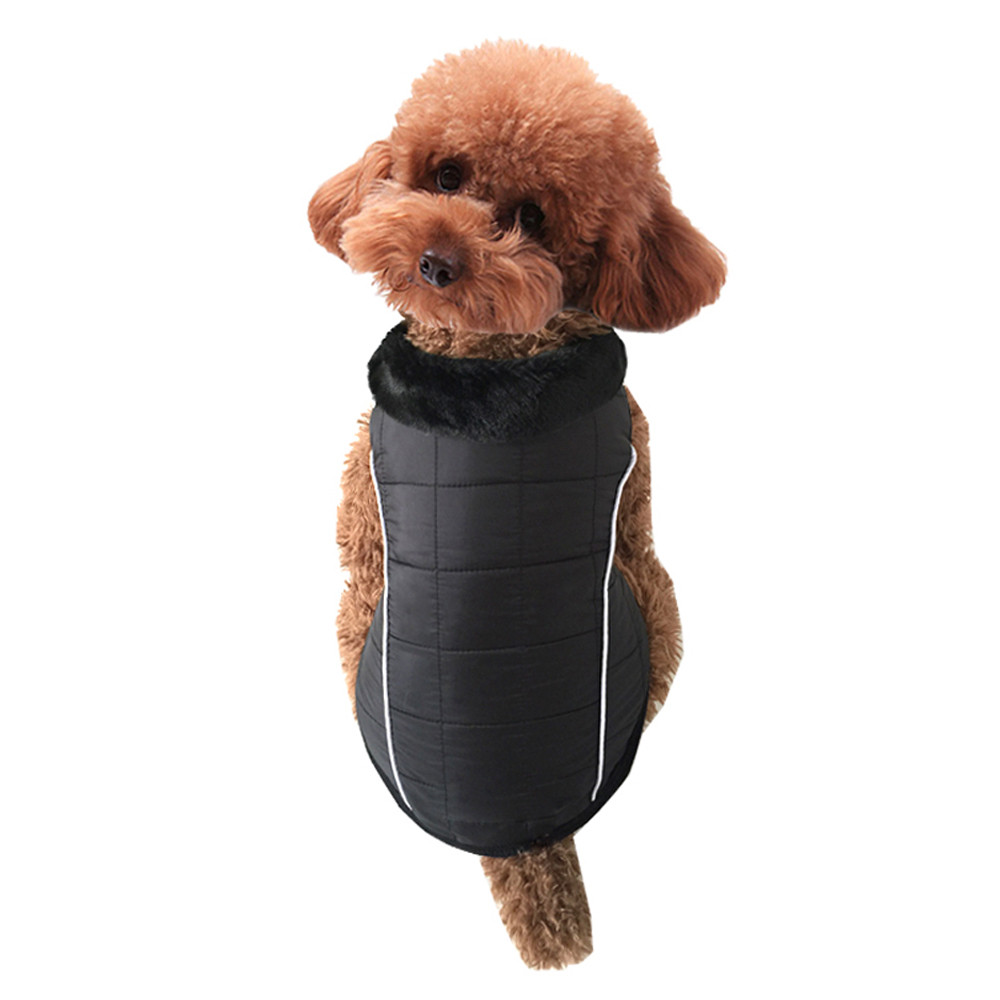 Dog Coat Pet Dog Puppy Cat Winter Warm Padded Coat Vest Fleece Waterproof Jacket U61101