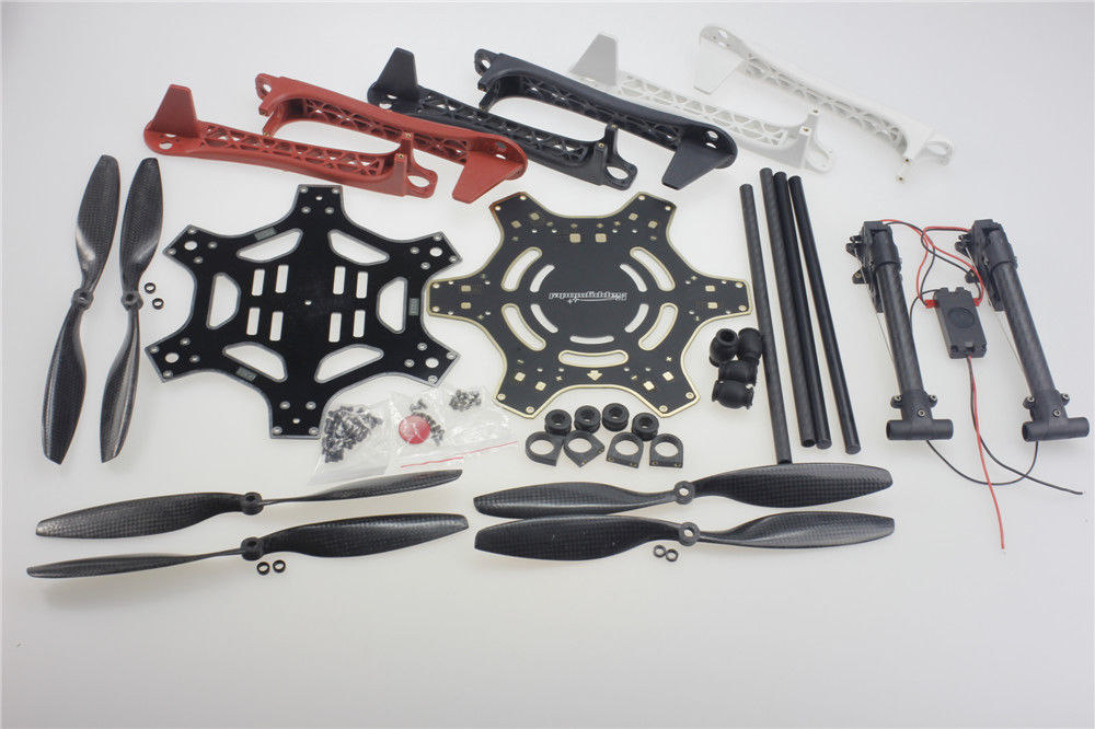 F550 Frame Kit Retractable Landing Gear Skid Upgrade PCB Centre Board Props for FPV DJI F550