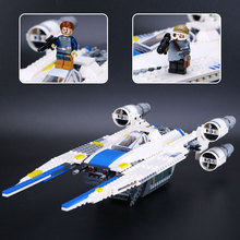 New 679pcs Genuine Star War Series The Rebel U-Wing Fighter Set Building Blocks Bricks Toys Compatible with lego 75155 05054