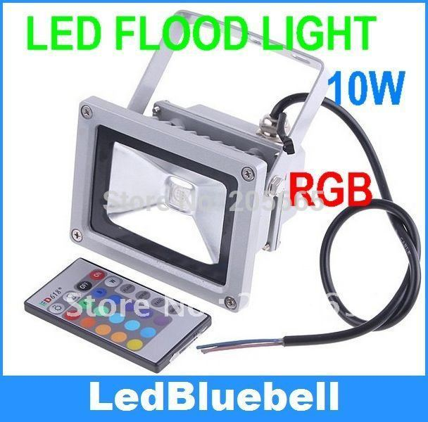 Outdoor IP65 Waterproof RGB Colour Changing LED Floodlight 10W AC85~265V