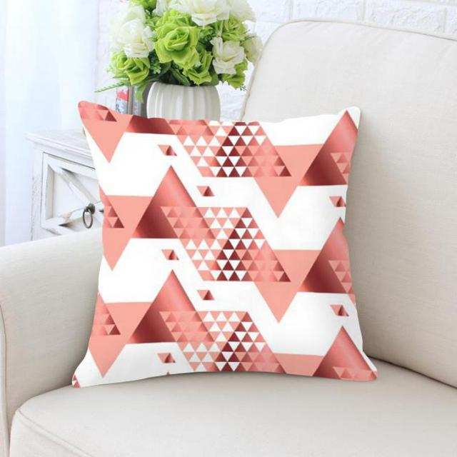 or rose coussin geometrique points cube triangle diamant forme simple papillon decoration doux en peluche tissu
