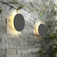 LED Waterproof Wall Lights Outdoor Aluminum Wall Lamp 8w Round Indoor Wall Decorate Lighting Garden Porch Light Fixture LP33