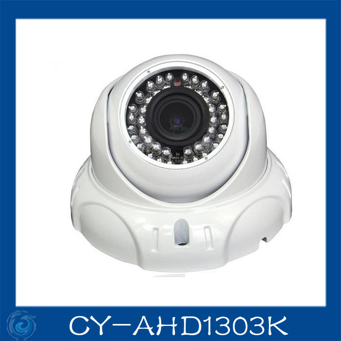 AHD camera 1.0MP metal dome cameras 2.8-12mm lens camera waterproof night vision IR cut filter 1/4 Surveillance home.CY-AHD1303k 4 in 1 ir high speed dome camera ahd tvi cvi cvbs 1080p output ir night vision 150m ptz dome camera with wiper