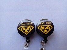 Cute xray tech   ID Badge Reel Holder Clip Holder Retractable Nurse  10pcs/lot
