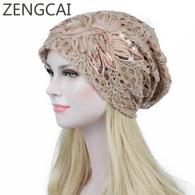 Turban Hats For Women Fashion Flower Female Stylish Butterfly Beanies Hat