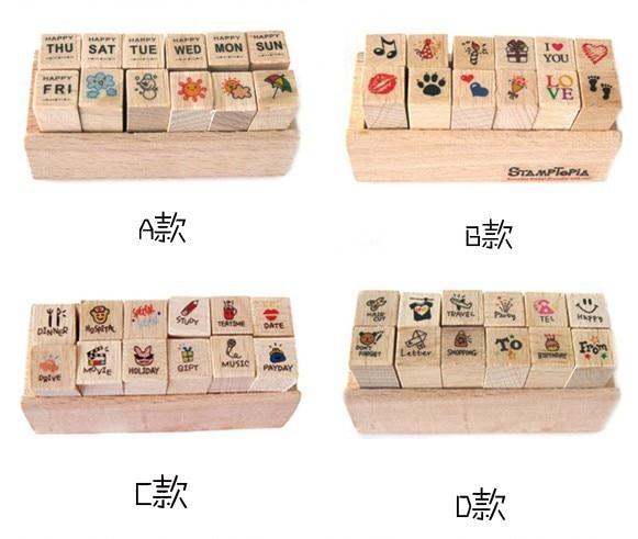 12pc / SET Retro Vintage Dairy Album dekoráció Fa gumibélyegző - Művészet, kézművesség és varrás