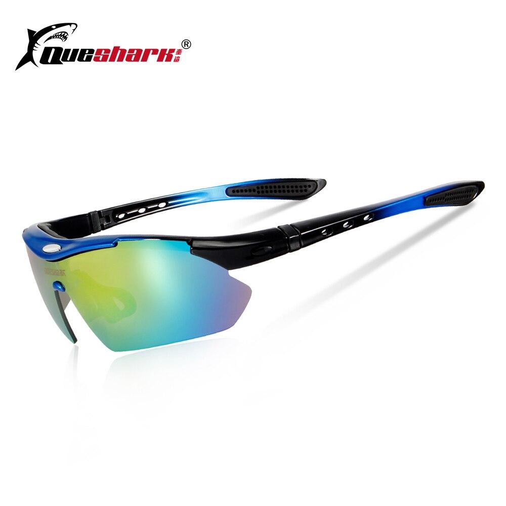 f6e28157adeea QUESHARK 5 Lente Polarized Óculos de Sol Ciclismo Esportes Óculos Bicicleta  MTB Óculos Lunette Ciclismo Bicicleta Óculos com Miopia Quadro