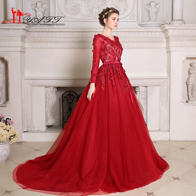Fantasy Fairy Medieval Luxury Pearls Red Long Prom Dresses 2017 V ...