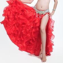 Leafroll Single-split Belly Dancing High Quality Bellydance Swing skirt  Belly dance Costumes Dance skirts  Performances dress