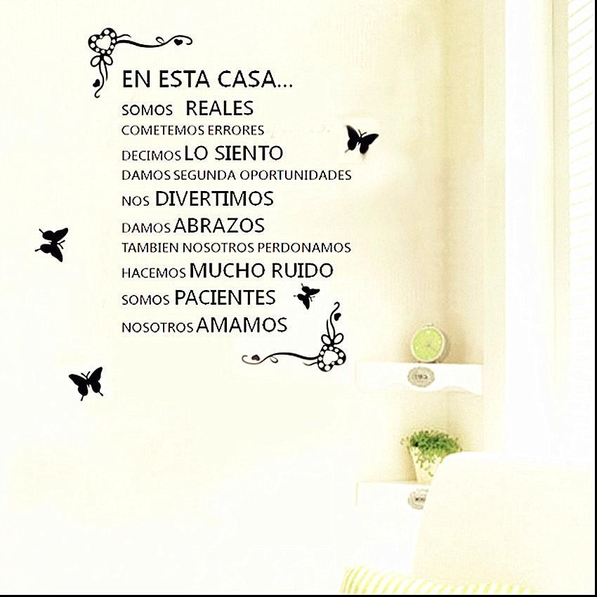 Love Quotes Spanish Home Rules En Esta Casa Stencil