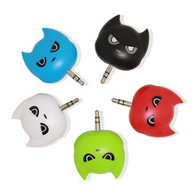 3.5mm Colorful Couple Plug Sharing Music Mini Headphone tap Portable Earphone Audio Converter for Smartphone Hit Cheap 3 in 1