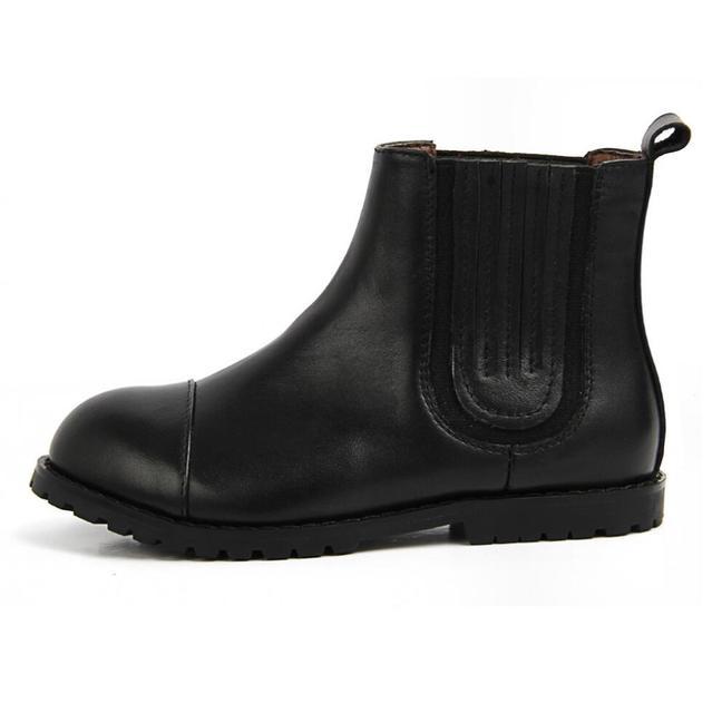 2016 Nueva Otoño Invierno Niños Botas Del Tobillo Del Algodón de Los Muchachos niños Patean los Zapatos Casuales de Cuero Real del bebé Niñas Princesa Martin botas