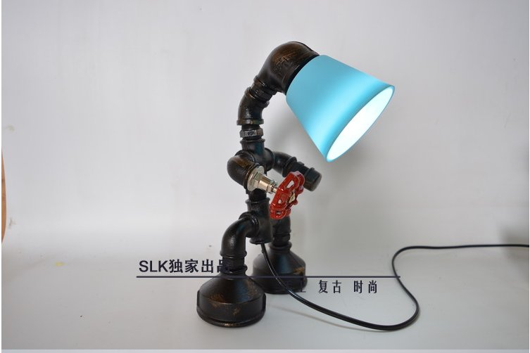 E27 Edison Bulb pipe lamp Vintage Industrial Retro Style Steel Pipe Desk Table Lamp led table lamp edison light fixtures