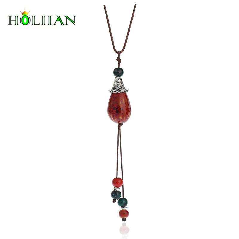 Lady manual handmade long drop pendants&necklaces boho ethnic fashion hot jewelry statement multicolor bohemian accessaries