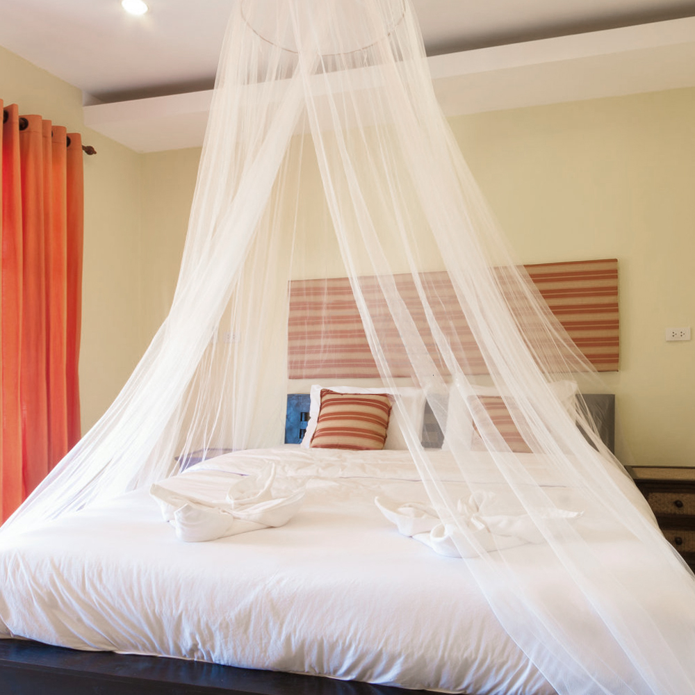 US $9.61 48% OFF|Universal White Dome Mosquito Mesh Net Easy Installation  Hanging Bed Canopy Netting for Single to King Size Beds Hammocks Cribs-in  ...