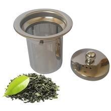 Brand nyt genanvendeligt rustfrit stål te Strainer mesh infuser kurv løst te blad infusere urte filter til mug tepotte te