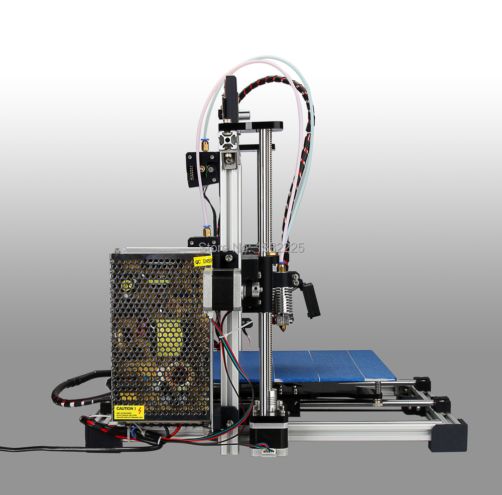 Big  Size Double Nozzles Dual Extruder 3d printer reprap prusau i3 kit impressora 3d with LCD 8GB SD card + 2 Rolls filament