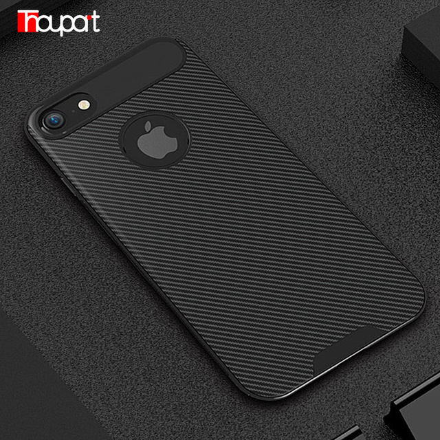 quality design f2b6d e7527 US $3.12 |Thouport For iphone 8 Plus Case iphone 8 Case Luxury Carbon Fiber  Soft TPU Case Anti Shock Cover Phone Bags For Apple iphone 8-in Fitted ...