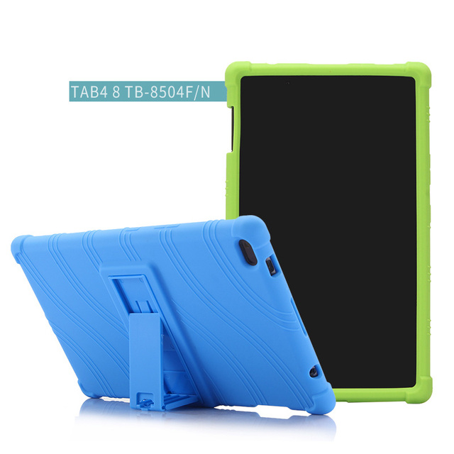official photos 09864 11c52 US $10.21 27% OFF|For Lenovo Tab 4 8 TB 8504X Soft Silicone Cover For  Lenovo TAB4 8 TB 8504F TB 8504N Tablet Case Kickstand Cover + Film + Pen-in  ...