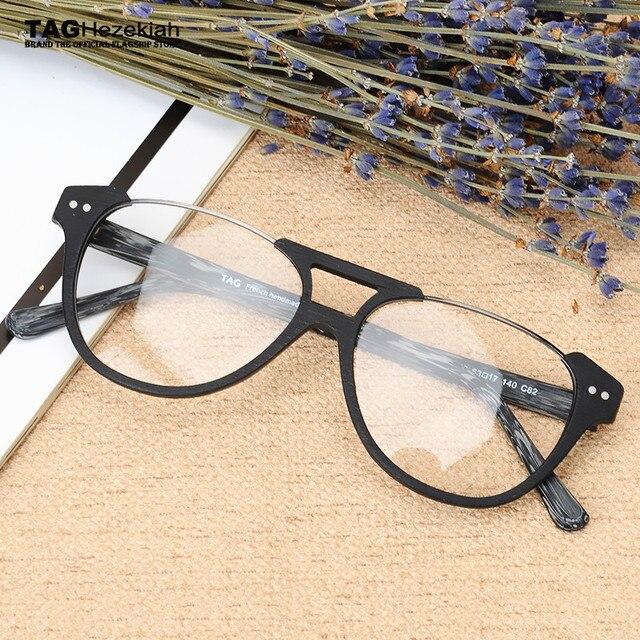 2017 TAG Ezéchias Marque Conception Vintage Bois Lunettes Cadres femmes  hommes ordinateur myopie optique lunettes oculos 3972da98f3c8
