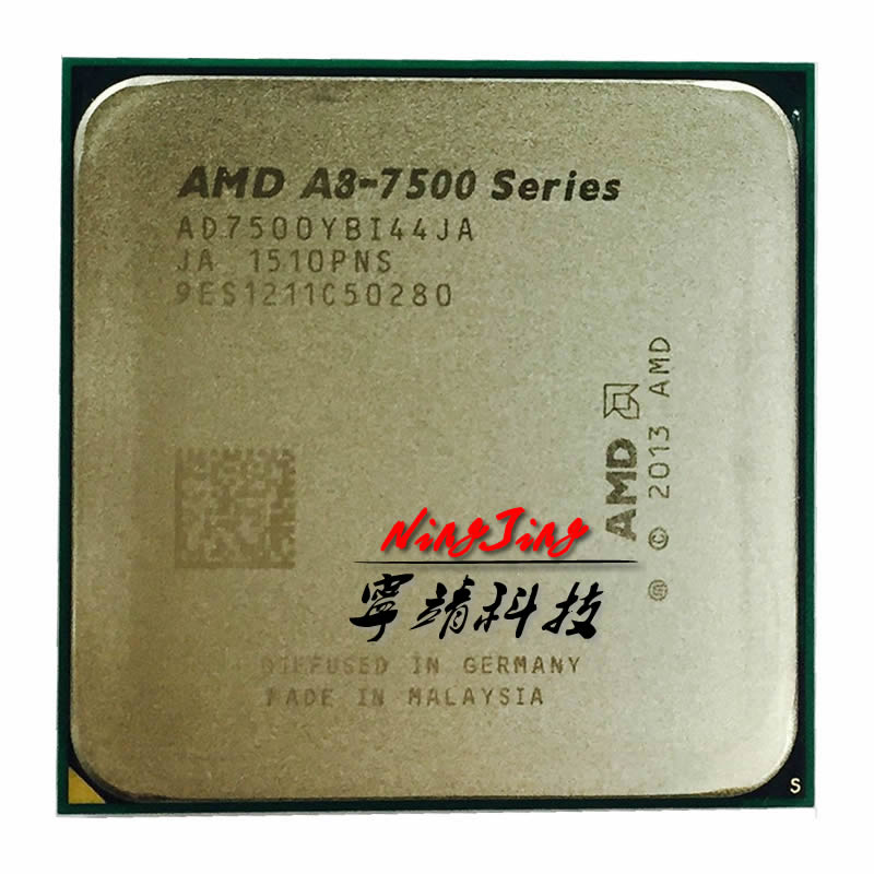 AMD A8 Series A8 7500 A8 7500 3 0GHz Quad Core AD7500YBI44JA Socket FM2
