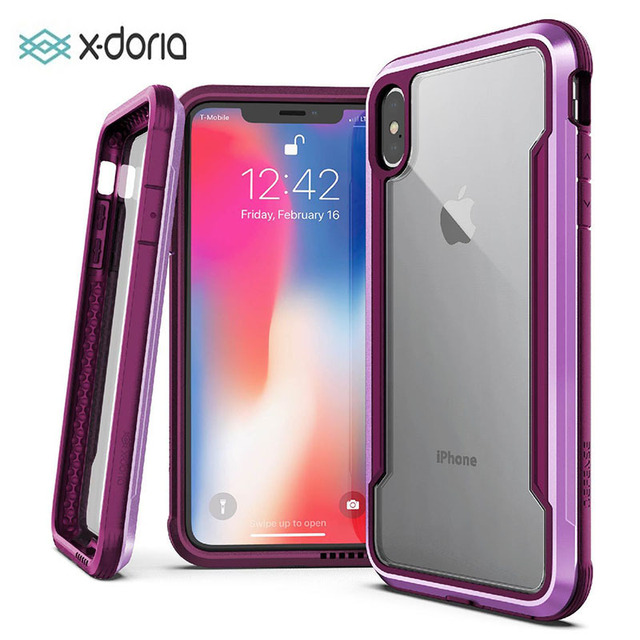 X Doria Defense Shield Case For iPhone XR XS Max Military Grade Drop Tested Aluminum Case For iPhone X XS Max Protective Cover