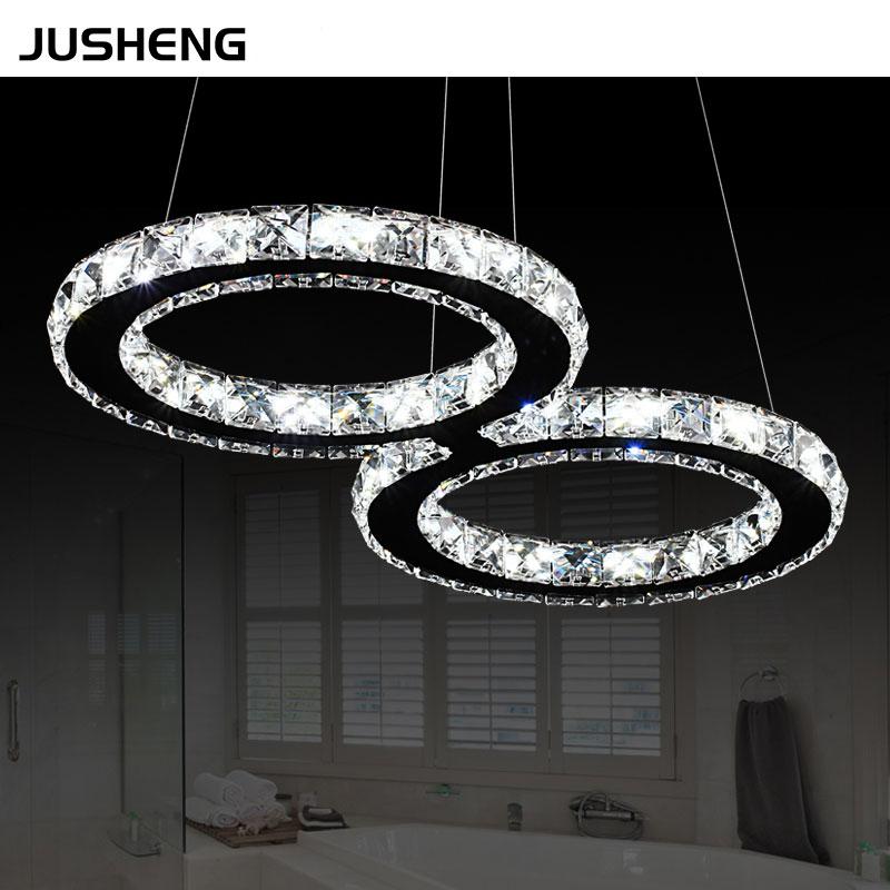 Noble Style 24W LED Cord Crystal Light Pendant Lighting Fixture white, warm white For Indoor Decor 110-240V AC zg9046 pendant light ac 110 240v