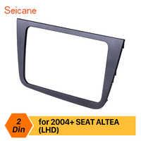 Seicane 2 din Car Stereo Radio Fascia for 2004+ SEAT Altea Toledo LHD DVD Player Frame Dash Trim Panel Installation Kit