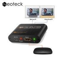Mini 1080P 3D HDMI Splitter Amplifier 2 Way Switch Box 1x2 Hub HDMI Distributor Adapter For