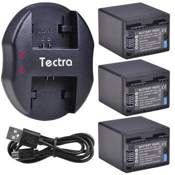 4450mAh 3pcs BP-745 BP745 Decoded Battery+USB Dual Charger for Canon VIXIA HF M50 M500 M52 R300 R32 R40 R42 R400 R50 R52 Battery