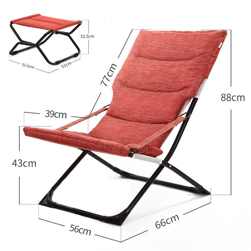 Modern Indoor Ourdoor Chaise Lounge Chair W Footrest Foldable Patio Garden Furniture  Folding Chair For Beech Backyard Yard Lawn  In Garden Chairs From ...