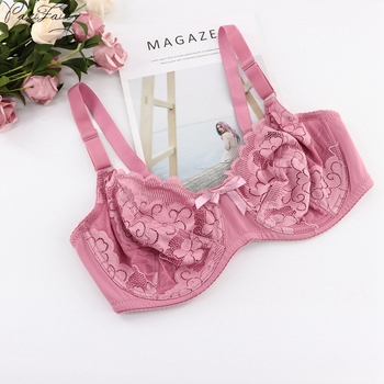 Thin Cup Full Coverage Unlined Bra Floral Sheer