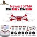 Mais novo syma x5uw & x5uc zangão 720 p wi-fi fpv com 2mp hd câmera Helicóptero Altura Segure Uma Tecla de Terra 2.4G 4CH 6 Eixo RC Quadcopter