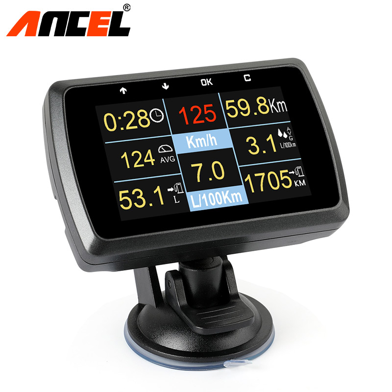 Ансель A501 оригинальный автомобиль цифровой OBD2 Smart Диагностический Инструмент Показать Скорость Температура воды расход топлива неисправн...