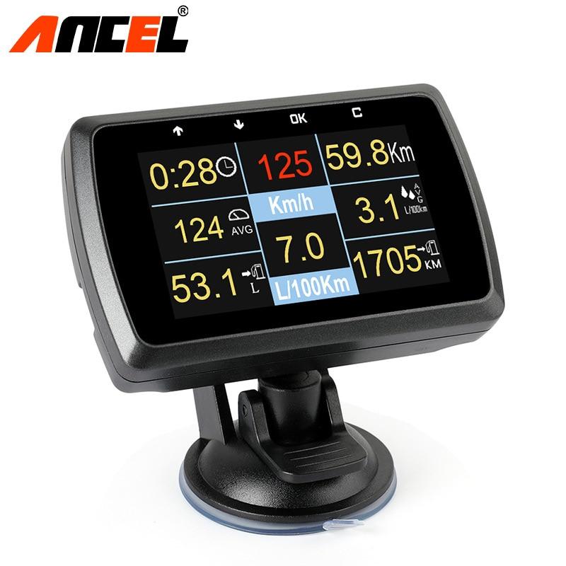 Ancel A501 Originale Auto Digitale OBD2 Intelligente Strumento di Diagnostica Mostra Velocità Temperatura Dell'acqua Consumo di Combustibile Calibro di Rilevamento Dei Guasti
