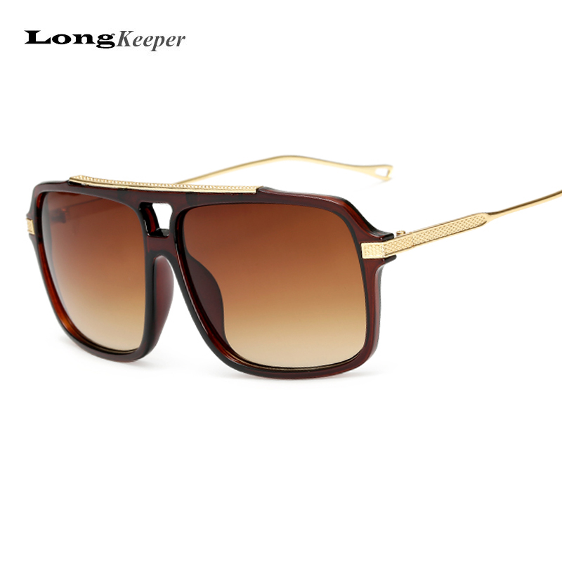 LongKeeper Flat Top Hot Square Sunglasses Men Brand Design Couple Sun Glasses Super Ssta ...