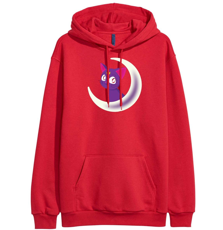 Women's Sweatshirts 2019 Hot Sale Fleece Hoodie For Women Spring Winter Sweatshirt Sportswear Kawaii Sailor Moon Pullover Female