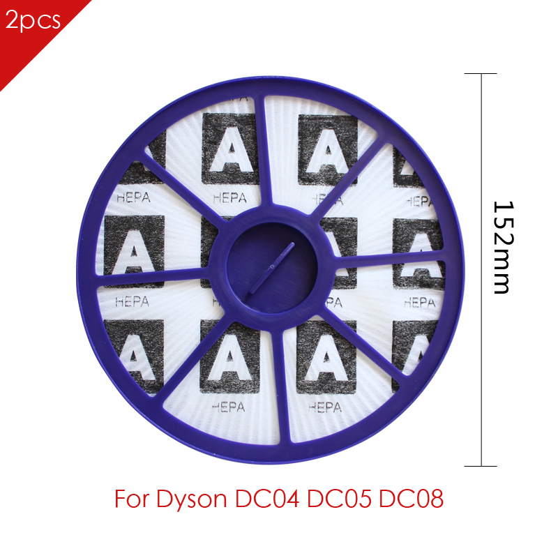 2pcs HEPA FILTERS Replaces For Dyson DC04 DC05 DC08 DC19 DC20 DC21 Vacuum Cleaner Part 2 pack new hepa filters replaces for dyson motor dc04 dc05 dc08 dc19 dc20 dc29 vacuums cleaner parts