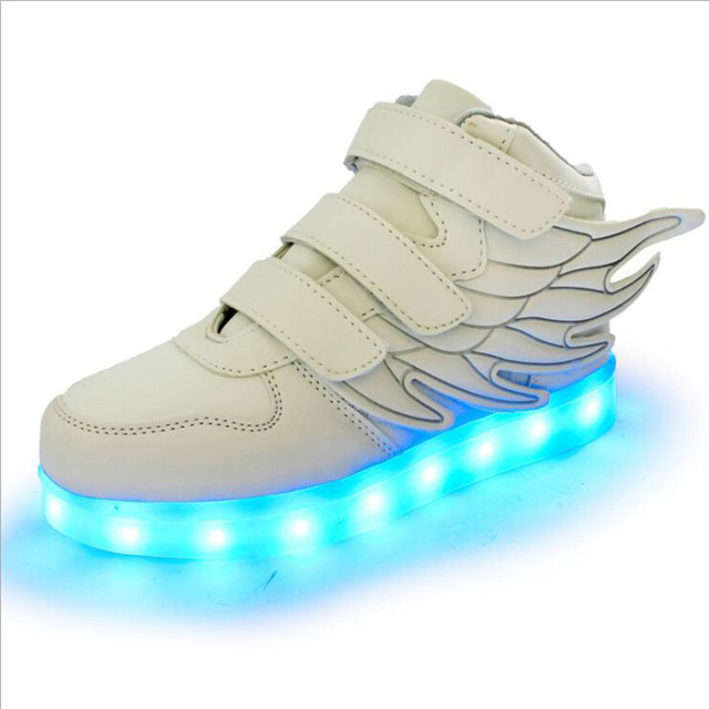 Kids LED Light Shoe Luminous Shoes Casual Boy Girl Glowing Antiskid Bottom Boys Girls Flats chaussure LED enfant high top