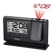 Laserowe projekcji podwójny Alarm zegar duży wyświetlacz temperatury w czasie żarówka jak z baterii/Adapter zasilania zegar stołowy