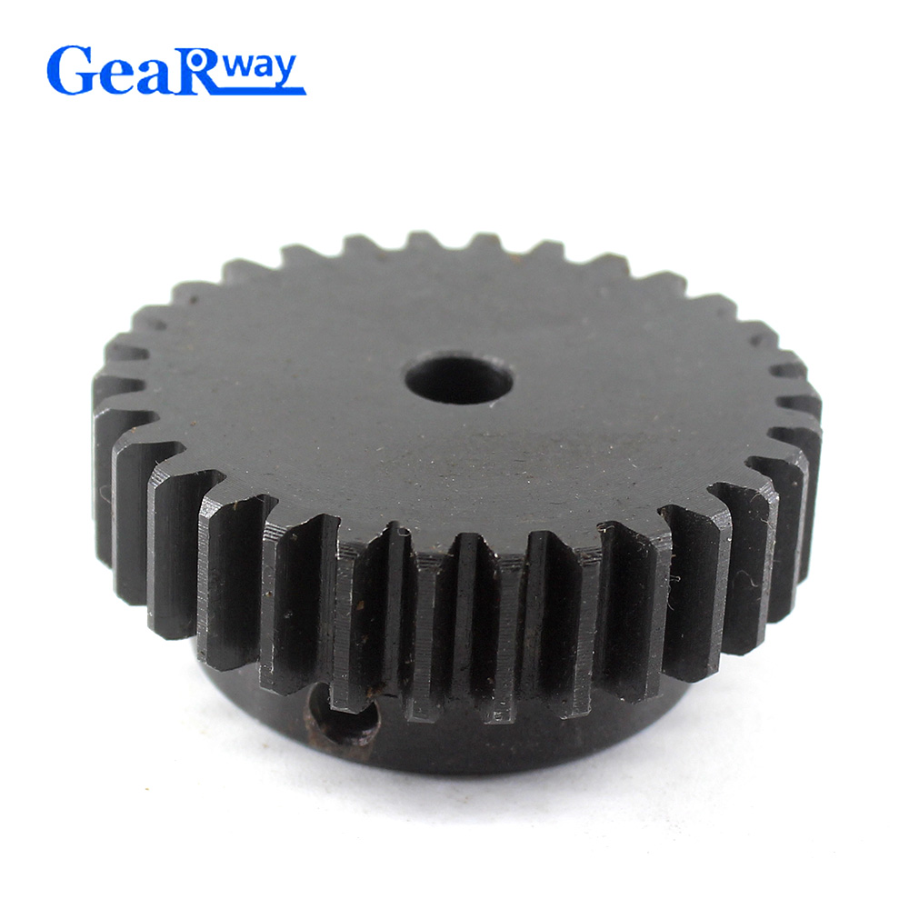 1M-35T 14mm Bore Hole 35 Teeth 35T Module 1 Motor Metal Gear Wheel Top Screw