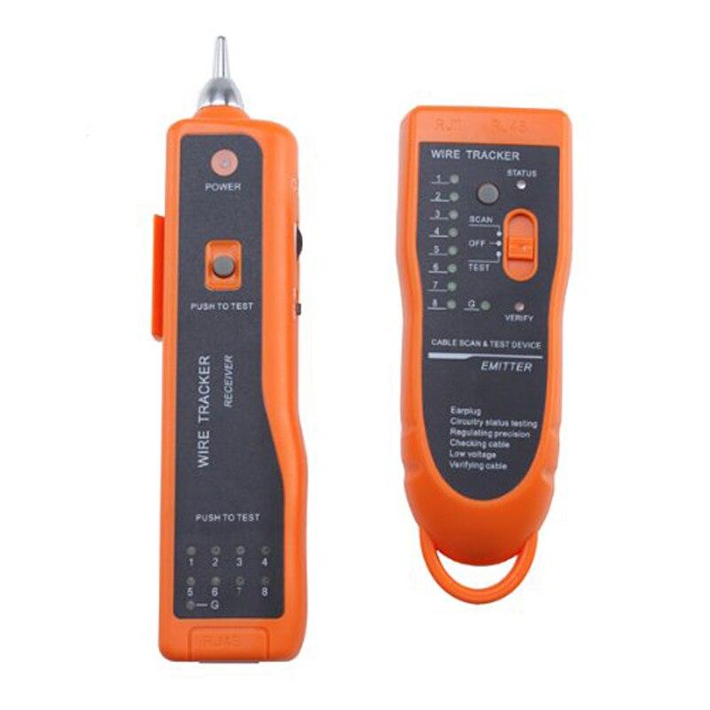 Фирменная Новинка Кабель Провода телефонной сети Тонер Tracer Тестер трекер оранжевый